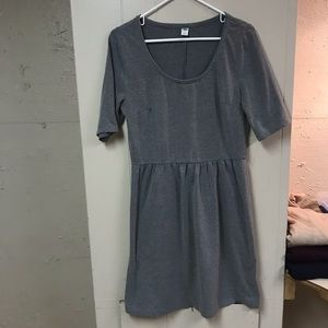 Old Navy ponte knit fit and flare dress.